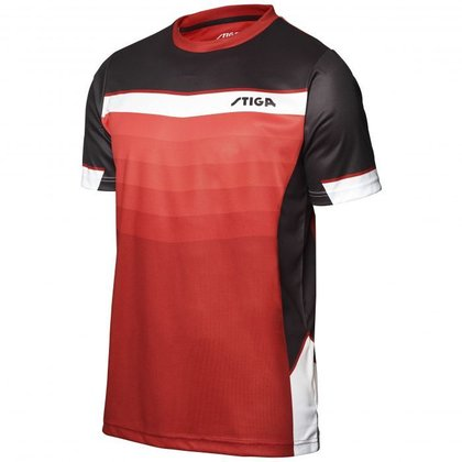 STIGA Shirt River Red Black