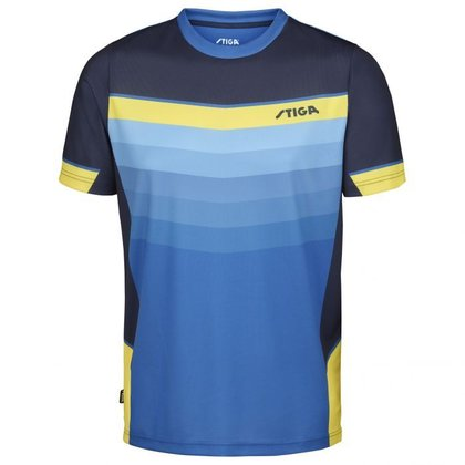 STIGA Shirt River Blue Yellow