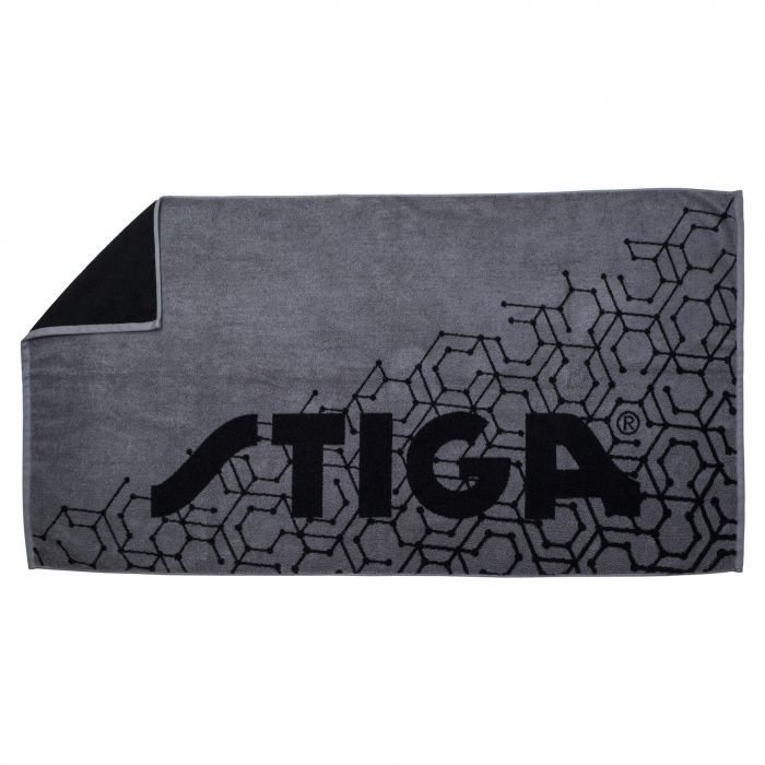 STIGA Towel Hexagon Large Black/Grey