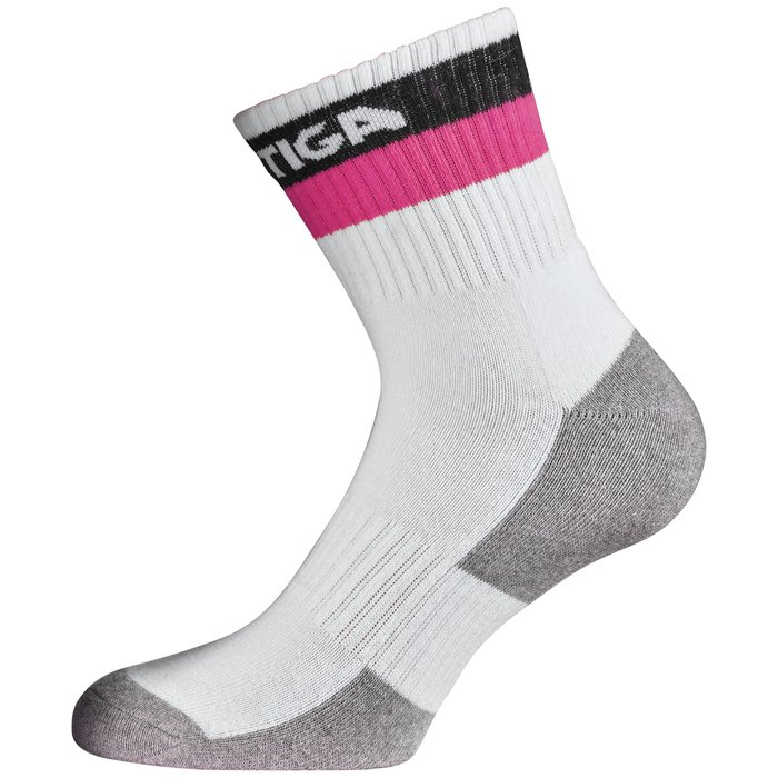 STIGA Prime Semi High Socks White Pink